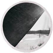 Round Beach Towel featuring the photograph Through A Bird Blind by Sue Collura