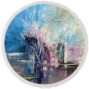 Through Morning's Light Round Beach Towel