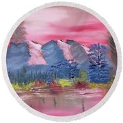 Through Rose Colored Glasses Round Beach Towel by Meryl Goudey
