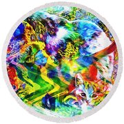 Through The Generations Round Beach Towel