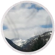 Through The Pass Round Beach Towel by Jewel Hengen
