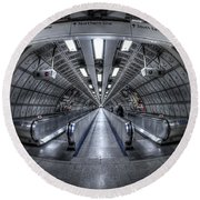 Through The Tunnel Round Beach Towel by Evelina Kremsdorf