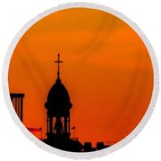 #throwbackthursday #fire In The #sky Round Beach Towel
