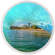 Thru The Looking Glass Round Beach Towel by James Roemmling
