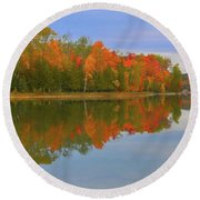 Round Beach Towel featuring the photograph Thumb Lake by Trey Foerster
