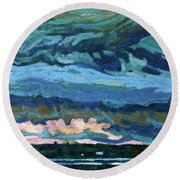 Thunder Cloud Round Beach Towel