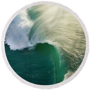 Thunder Curl Round Beach Towel