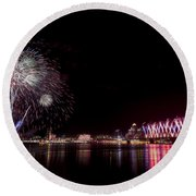 Thunder Over Louisville Round Beach Towel
