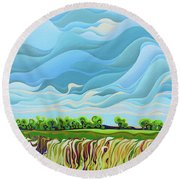 Thunder Sky Round Beach Towel