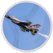 Round Beach Towel featuring the photograph Thunderbird #5 by Nick Zelinsky