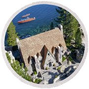 Thunderbird Lodge Aerial Round Beach Towel