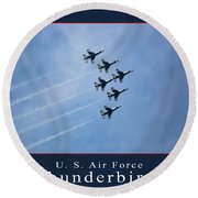Thunderbirds Round Beach Towel