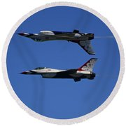 Thunderbirds Reflective Pass Round Beach Towel by Raymond Salani III