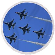 Thunderbirds Upwards Round Beach Towel by Raymond Salani III