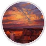 Thundercloud Over The Palouse Round Beach Towel