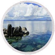 Thunderclouds Round Beach Towel