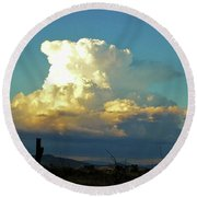 Thunderhead Cloud Round Beach Towel