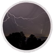 Thunderstorm II Round Beach Towel