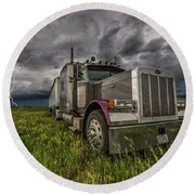 Round Beach Towel featuring the photograph Thunderstruck by Aaron J Groen