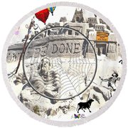 Thy Will Be Done Round Beach Towel