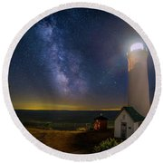 Tibbetts Point Night Round Beach Towel