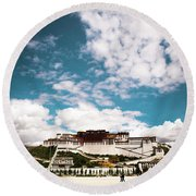 Tibet Potala Palace Dalai Lama Home Place. Kailash Yantra.lv 2016  Round Beach Towel