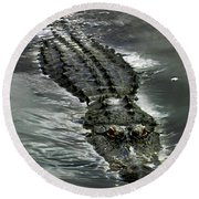 Round Beach Towel featuring the photograph Tick Tock by Anthony Jones