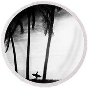 Ticla Palms Round Beach Towel
