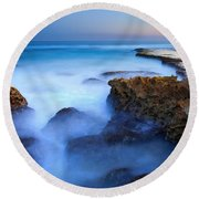 Tidal Bowl Boil Round Beach Towel by Mike  Dawson