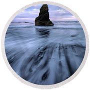 Tidal Dance II Round Beach Towel
