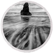 Tidal Dance Round Beach Towel
