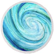 Round Beach Towel featuring the painting Tidal by Monique Faella