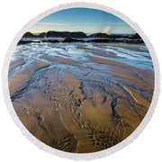 Tidal Patterns Round Beach Towel