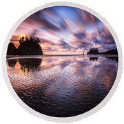 Tidal Reflection Serenity Round Beach Towel
