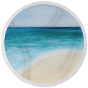 tide Coming In Round Beach Towel