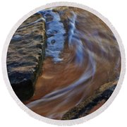 Round Beach Towel featuring the photograph Tide Flow by Craig Wood