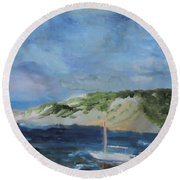 Tide Out Round Beach Towel
