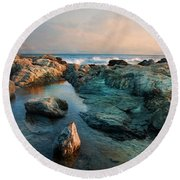 Round Beach Towel featuring the photograph Tide Pool by Robin-Lee Vieira