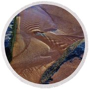 Round Beach Towel featuring the photograph Tide Ripple by Craig Wood