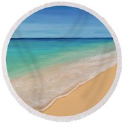 Tide Washing In Round Beach Towel