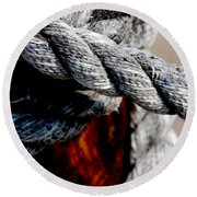 Round Beach Towel featuring the photograph Tied Together by Susanne Van Hulst