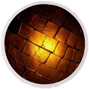 Round Beach Towel featuring the photograph Tiffany Lamp by Robert Knight