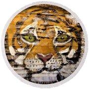 Tiger Round Beach Towel by Ann Michelle Swadener