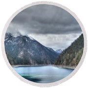 Tiger Lake China Round Beach Towel