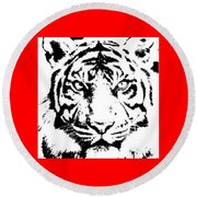 Tiger Round Beach Towel by Now