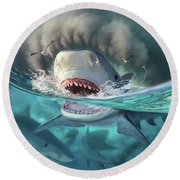 Tiger Sharks Round Beach Towel