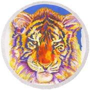 Tiger Round Beach Towel by Stephen Anderson