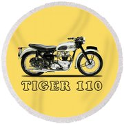 Tiger T110 1957 Round Beach Towel