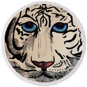 Tigger Round Beach Towel by Nora Shepley