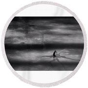 Round Beach Towel featuring the photograph Til Spring by Mark Fuller